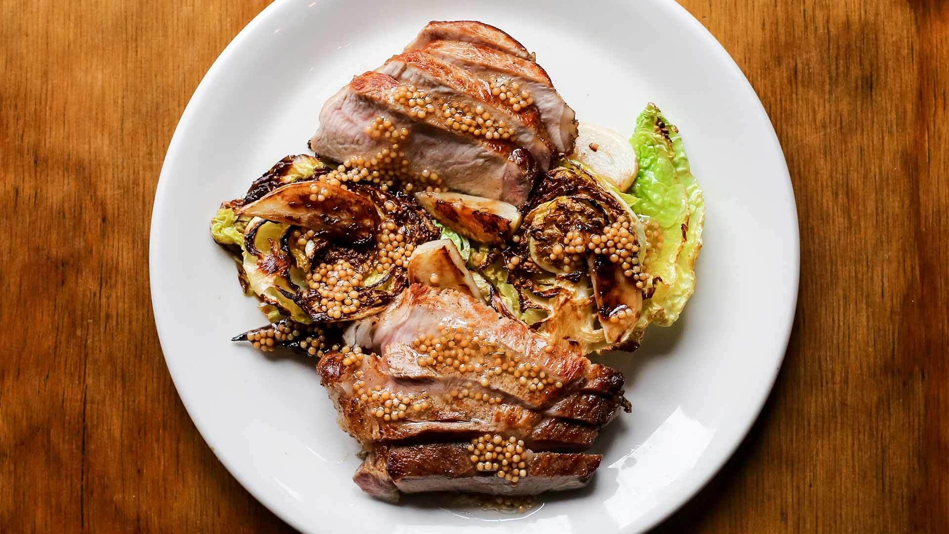 Pork neck with mini savoy cabbage web2