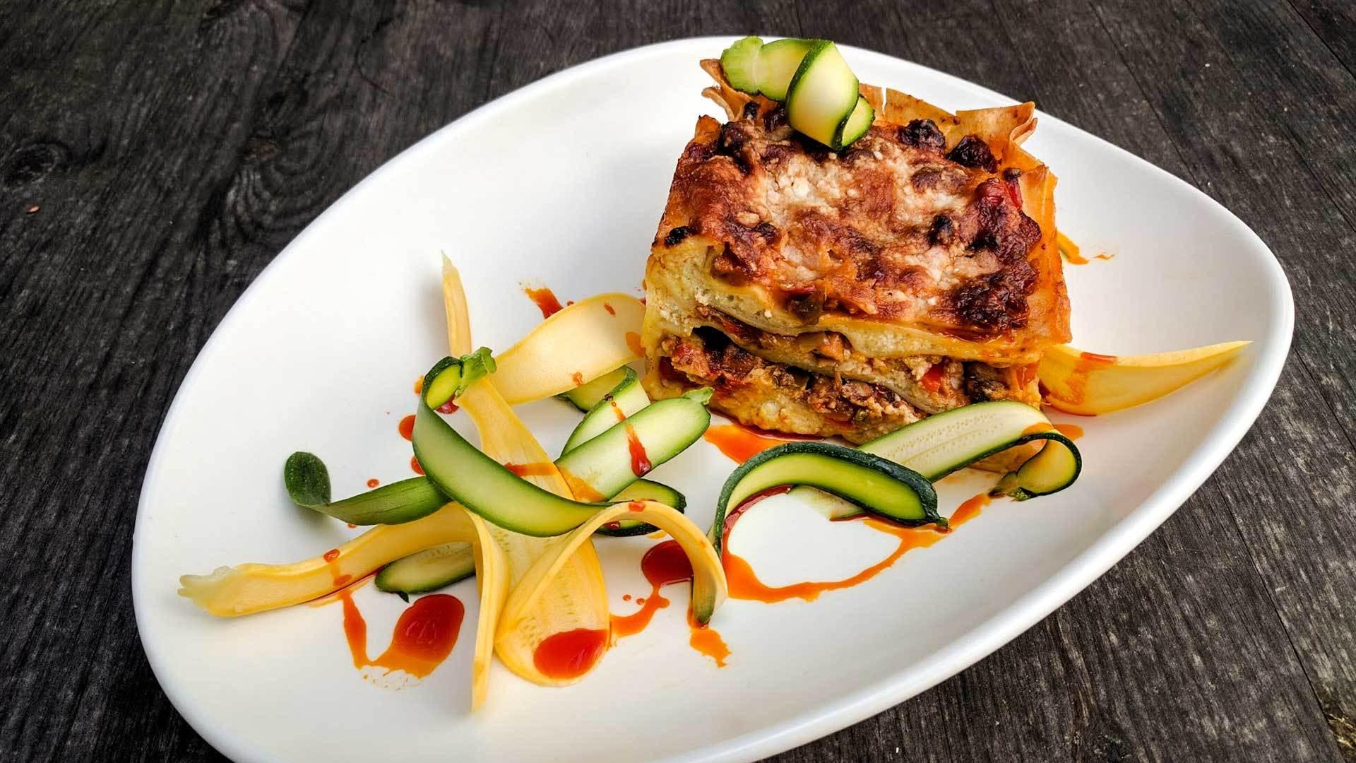 Vegetarian lasagna web